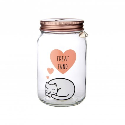 ARI036 Cutie Cat Treat Fund Money Jar