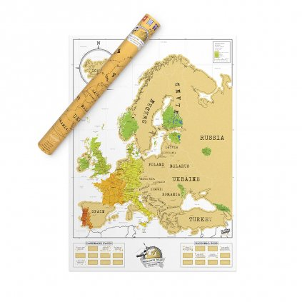 SCRATCH MAP EUROPE EDITION 5