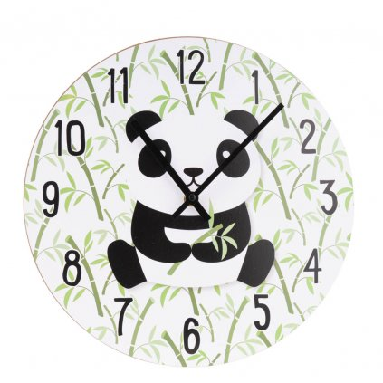 429 nastenne svetle hodiny s potiskem pandy