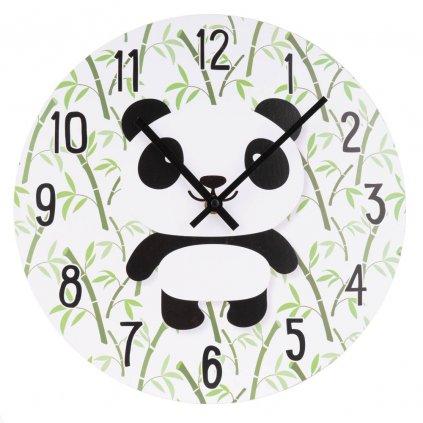 432 svetle nastenne hodiny s potiskem pandy