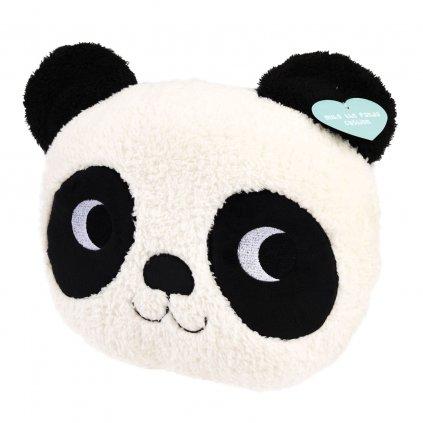 Dekorativní černo-bílý polštář ve tvaru pandy Miko The Panda