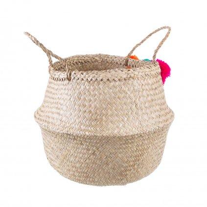 BASK017 A Summer Pom Pom Basket Front