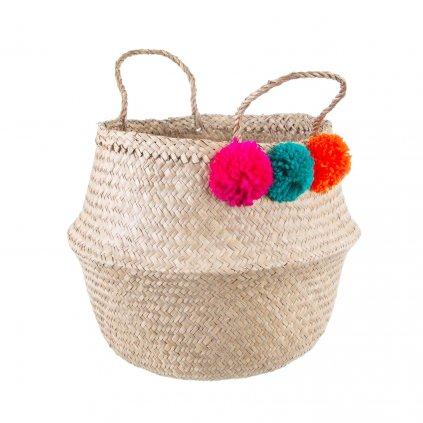 4757 2 bask017 a summer pom pom basket front