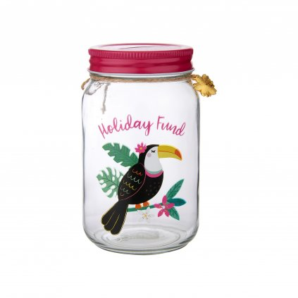 ARI039 Toucan Holiday Fund Money Jar