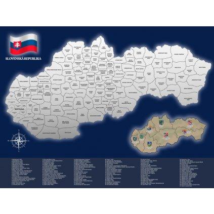 Stírací mapa Slovenska