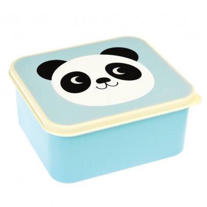 Modrý svačinový box s motivem pandy Miko The Panda
