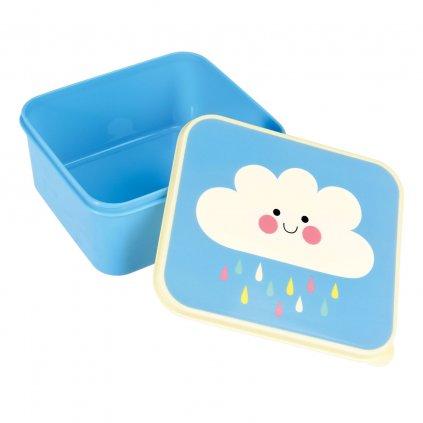 Modrý svačinový box s motivem mráčku Happy Cloud