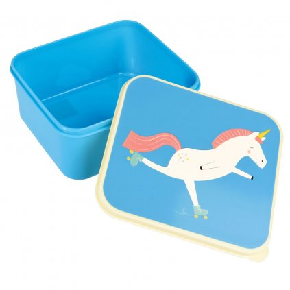 Modrý svačinový box s motivem jednorožce Magical Unicorn