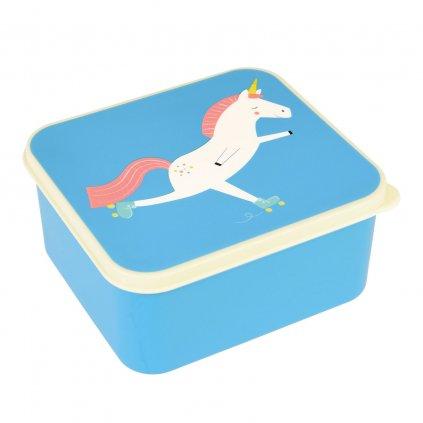 4862 2 4862 1 modry svacinovy box s motivem jednorozce magical unicorn