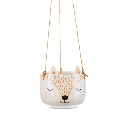 XDC367 A Woodland Fox Hanging Planter