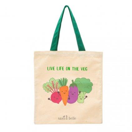 EVA079 A Live Life on the Veg Tote Bag