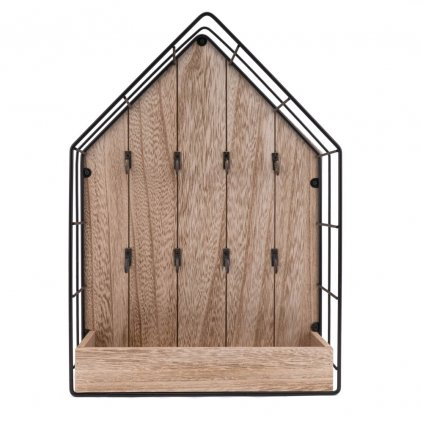 501 1 dreveny vesak na klice ve tvaru domecku