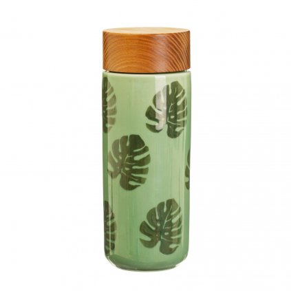 5027 2 jux001 a cheese plant leaf ceramic bottle
