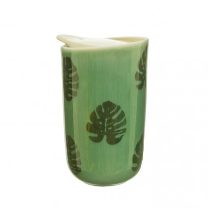 5048 2 jux004 a cheese plant leaf ceramic travel mug