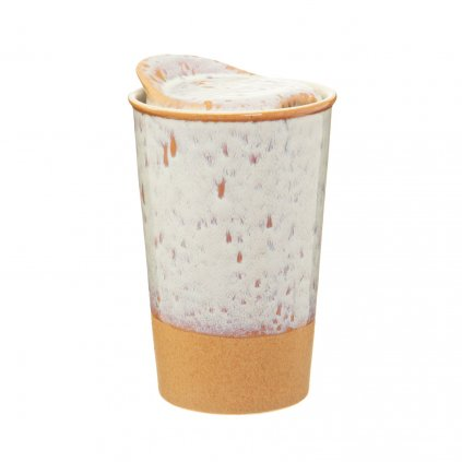 JUX003 A White Glaze Ceramic Travel Mug