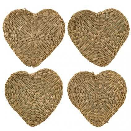 5057 2 bask032 a heart seagrass coasters