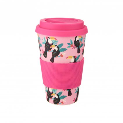 ZOE047 A Toucan Bamboo Coffee Cup Front