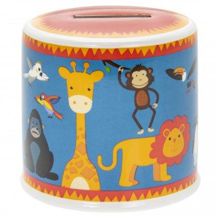 5129 barevna keramicka pokladnicka s motivy zviratek v zoo little stars