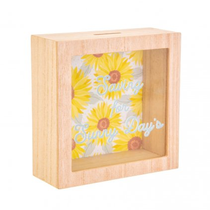 5168 2 ad218 b sunflower sunny days money box side