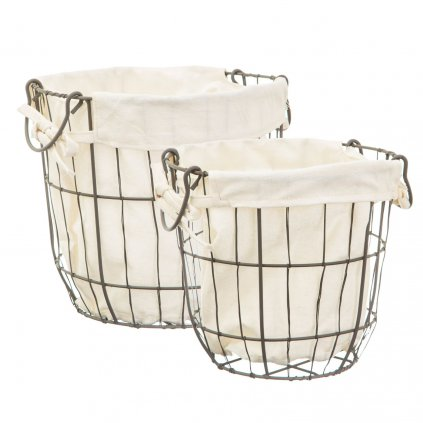 5177 5 zha002 a round wire storage baskets with lining set 2