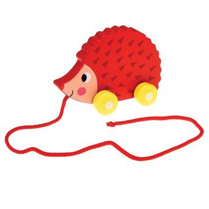 Dřevěná tahací hračka - ježek Ella The Hedgehog