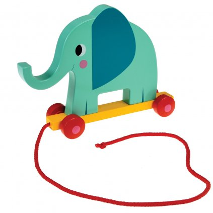Dřevěná tahací hračka - slon Elvis The Elephant
