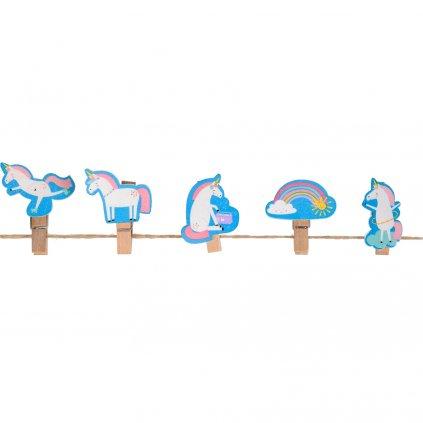 5231 3 5231 2 sada 10ks barevnych drevenych kolicku s motivy jednorozcu magical unicorn