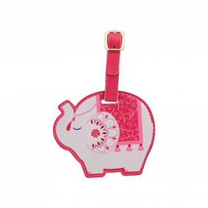FRAN104 A Mandala Elephant Luggage TAg