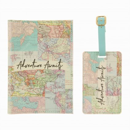 5351 5 fran111 a vintage map collage travel set