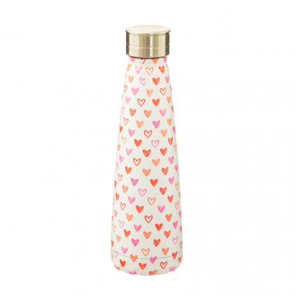 ANG036 A Red Love Heart Stainless Steel Water Bottle