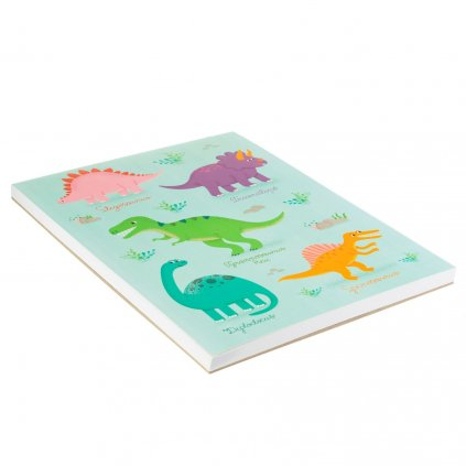 5393 7 note045 c roarsome dinosaurs a4 notebook flat