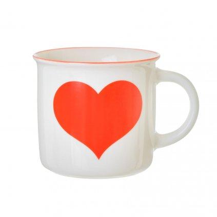 GDC009 Red Love Heart Mug B