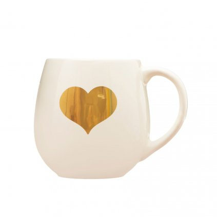 GDC008 B Gold Heart Mug