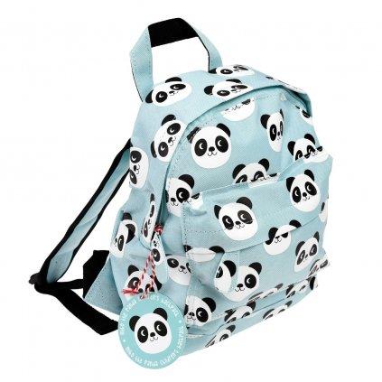 Světle modrý dětský batoh s motivy pandy Miko The Panda