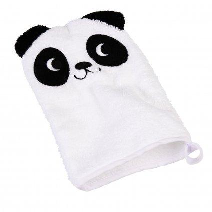 5603 bila bavlnena koupaci rukavice s motivem pandy miko the panda