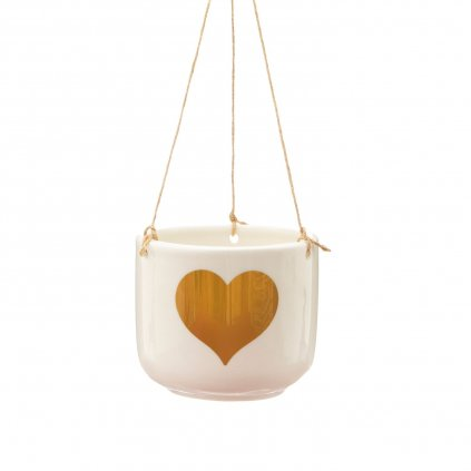 5633 3 xdc395 b gold heart hanging planter