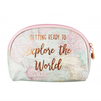 FRAN109 B World Explorer Cosmetic Bag Back