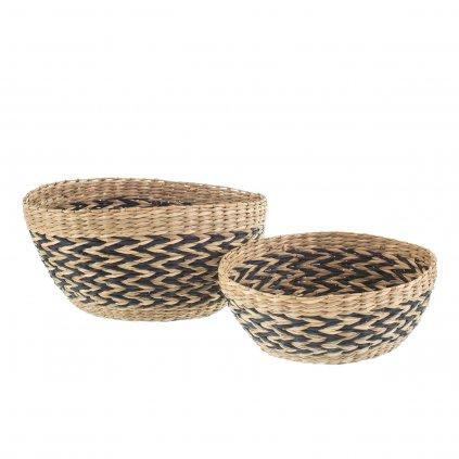 BASK027 A Woven Seagrass Bowls Set 2