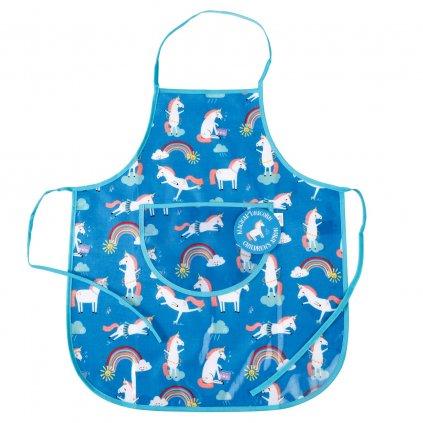 6179 detska modra kuchynska zastera s motivem jednorozcu magical unicorn
