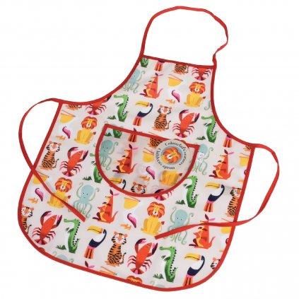 6185 1 detska barevna kuchynska zastera s motivem zviratek colourful creatures