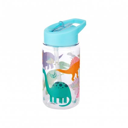ZIP034 A Roarsome Dinosaurs Drink Up Water Bottle Front