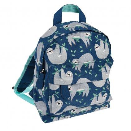 Modrý dětský batoh s motivy lenochoda Sydney The Sloth