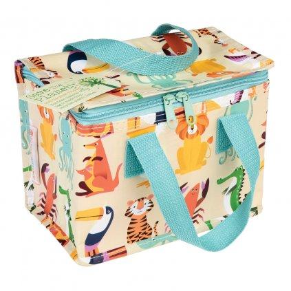 Barevná taška na svačinu nebo oběd s motivem zvířátek Colourful Creatures