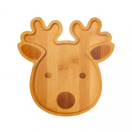 JQYXM001 A Reindeer Bamb oo Shaped Plate