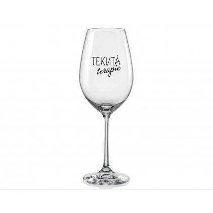 sklenice na vino tekuta terapie