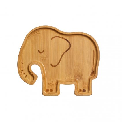 JQY015 A Elephant Bamboo Plate