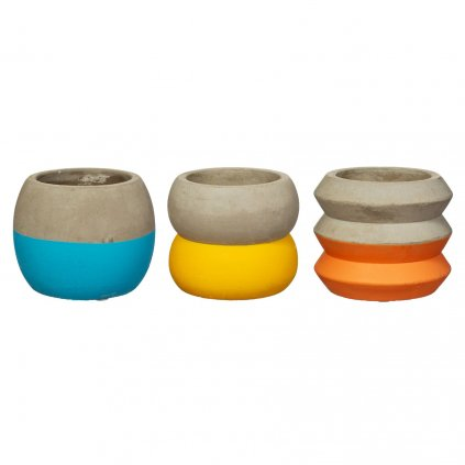 NEW011 A Colour Block Shaped Cement Planters Mini 3 Assorted copy