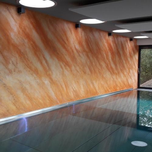 Istinto - imitace šikmého kamene v bazénu