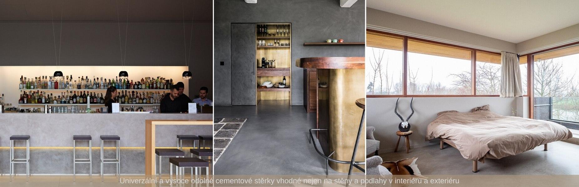 Univerzální stěrky vhodné na podlahy, stěny do interiérů a exteriérů