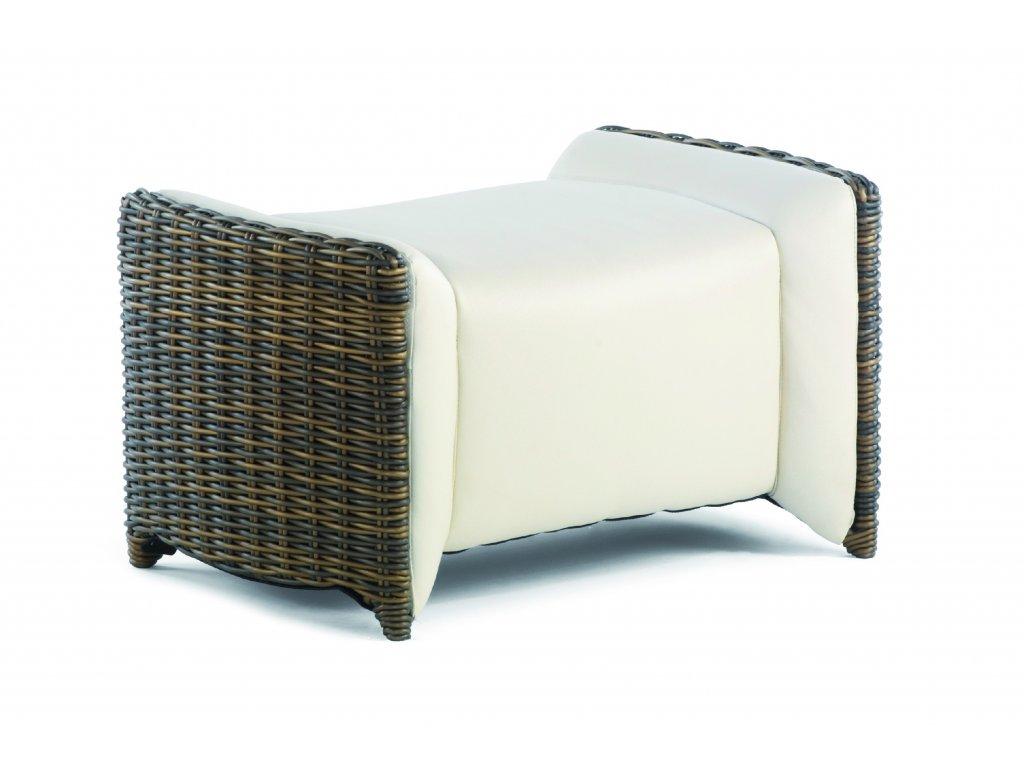 Luxor Footstool gold cane 7x3.8 marina0163